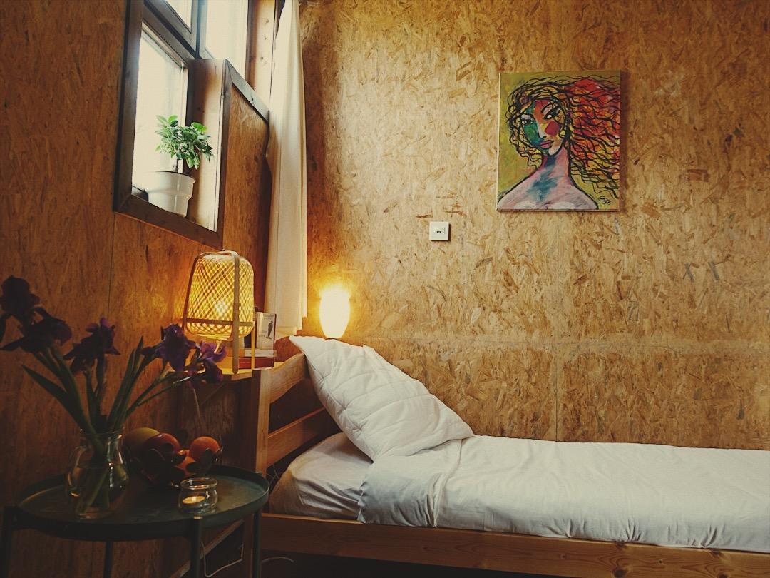 hébergement chambre partagée retraite yoga